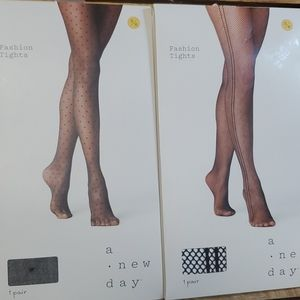 A New Day Fashion Tights S/M 2 Pair #N008